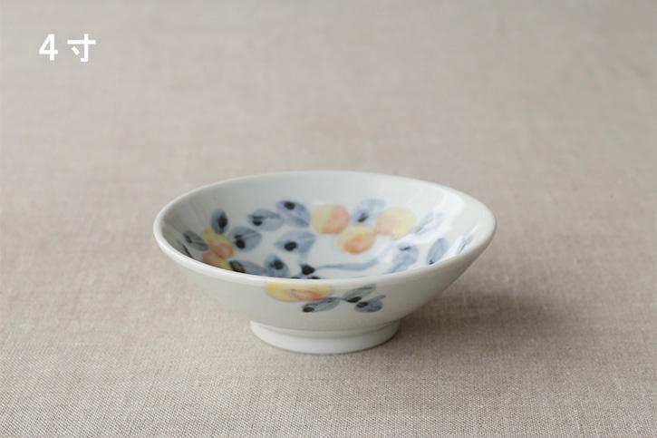 【在庫限り生産終了】色絵桃の木 鉢 (九谷青窯・堀畑蘭)