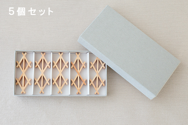 組子箸置き (猪俣美術建具店)