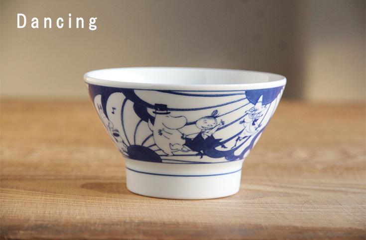 ムーミン×アマブロ 染付け茶碗 (amabro)