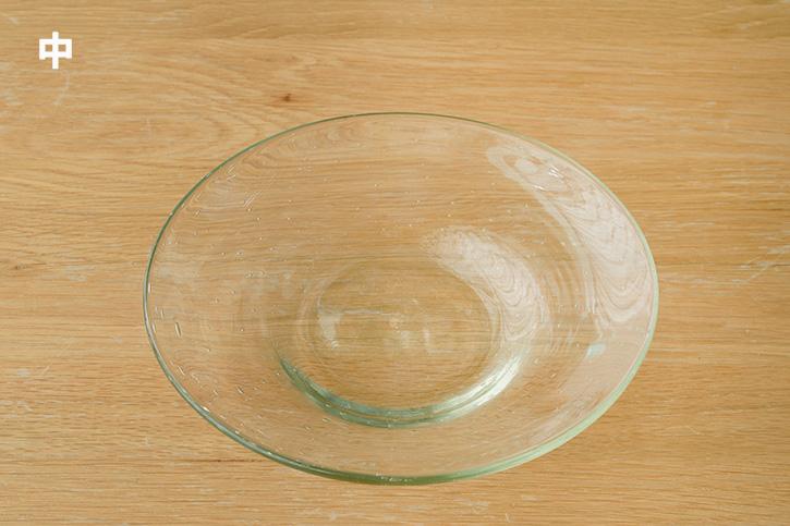 【一部在庫限り生産終了】気泡皿 (ガラス工房 清天)