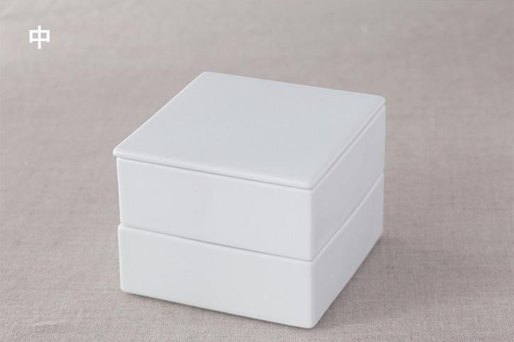 白磁のお重 (堀江陶器)