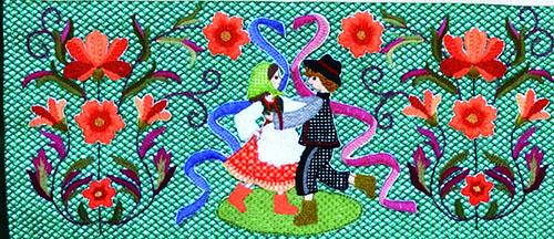 2009年戸塚刺しゅう展示会ポスター作品 大地の実りと我らが暮らし 図案