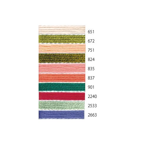 コスモ25番刺しゅう糸全500色 / 廃番色