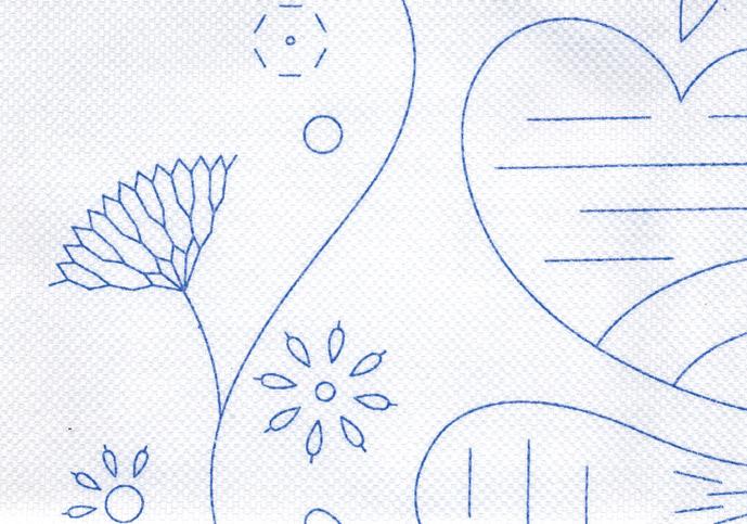 資格課題作品用 図案転写済み刺しゅう布