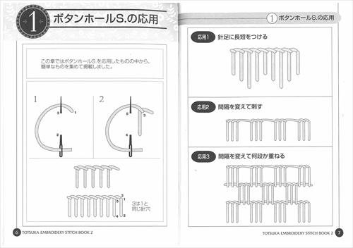 ステッチBOOK 2 応用編 / ボタンホールSの応用