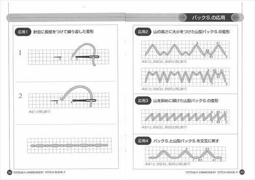 ステッチBOOK 9 応用編 / アウトラインS・バックSの応用