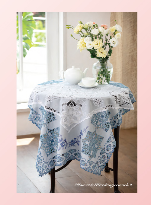 フランス刺繍と図案154集 花とハーダンガーワーク2