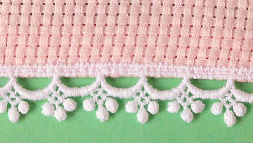 楕円形ドイリー テントウムシ (ピンク)
