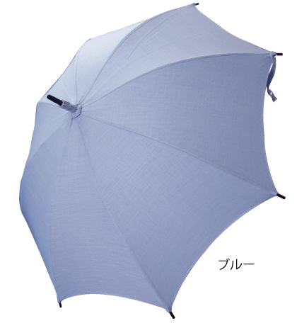 戸塚オリジナル パラソル 日傘 長柄 8本骨 麻 クラッシー 日本製 ニューパラソル