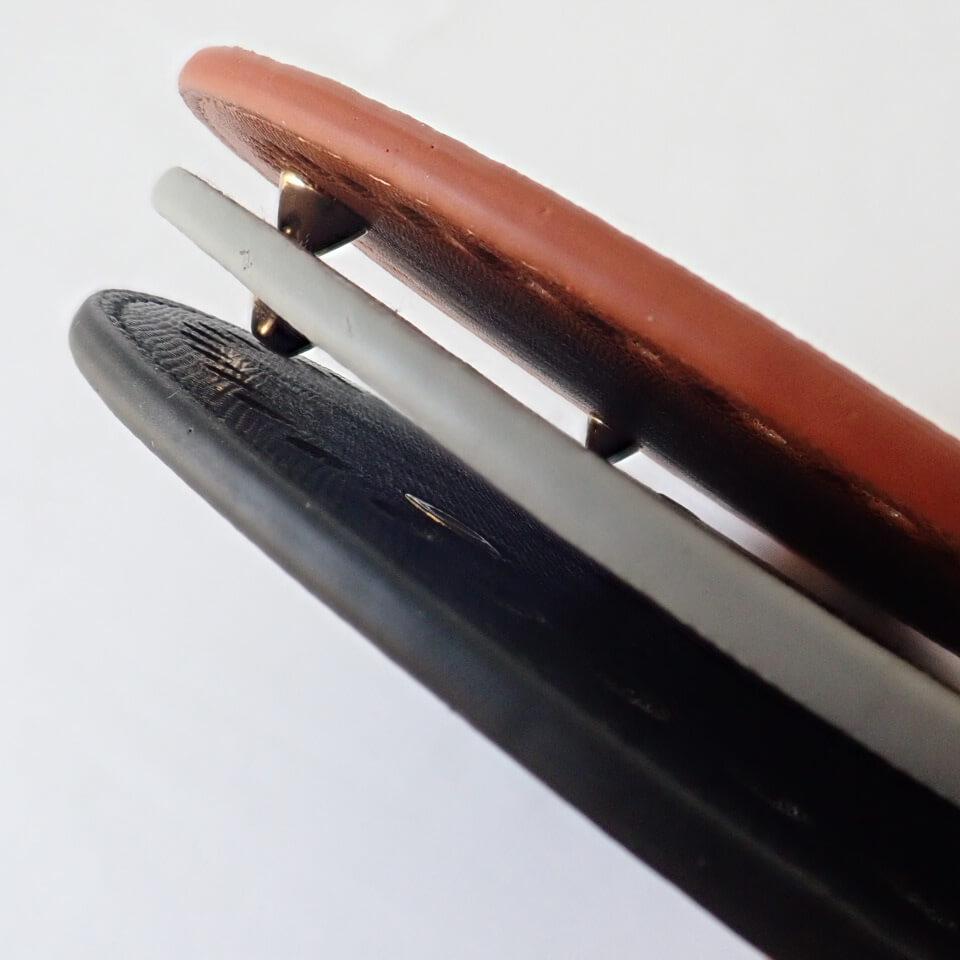 【送料無料】リベット付き底板 丸型(直径15cm、穴数48個)ブラック