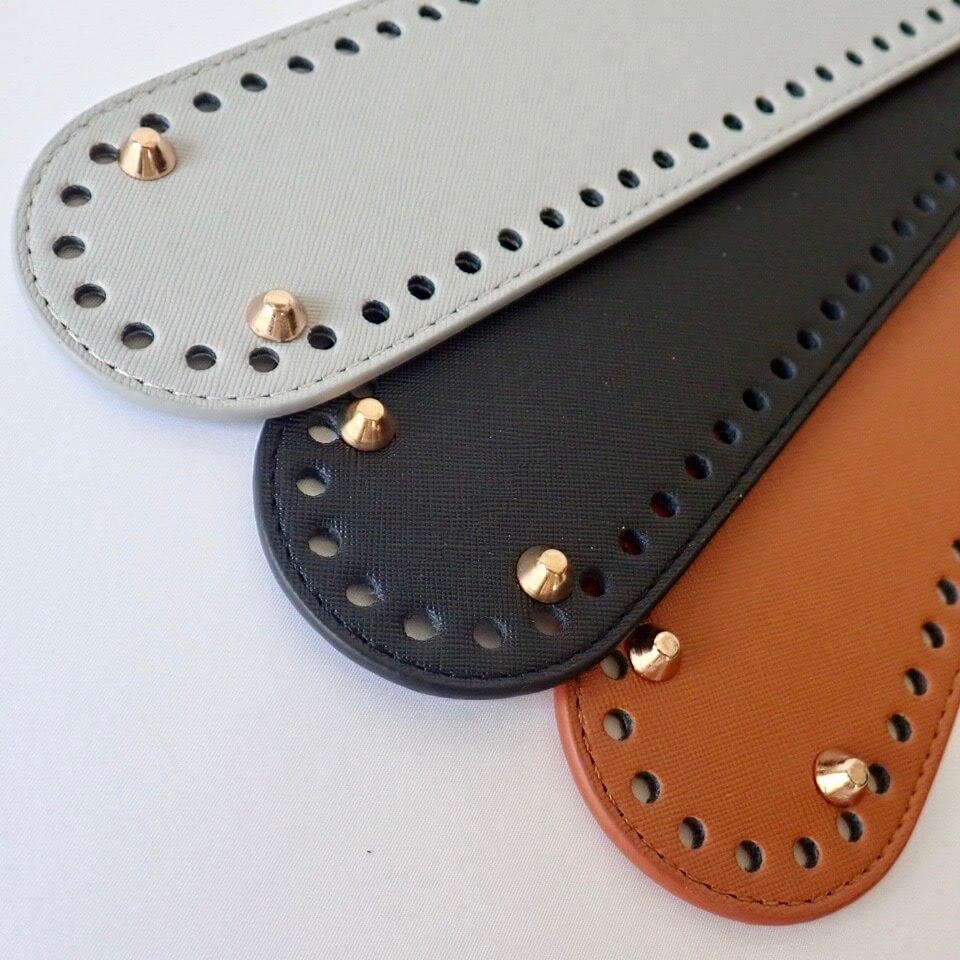 【送料無料】リベット付き底板 楕円型大(27cm×7cm)ブラック