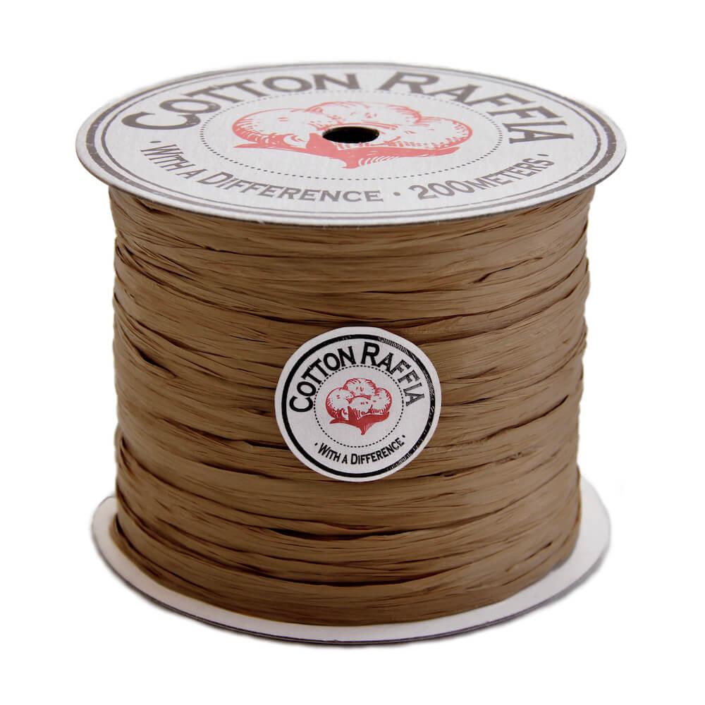 【コットンラフィア】140 マホガニー <編み物 かぎ針編み バッグ 帽子 麦わら帽子 におすすめのラフィア風手芸糸>