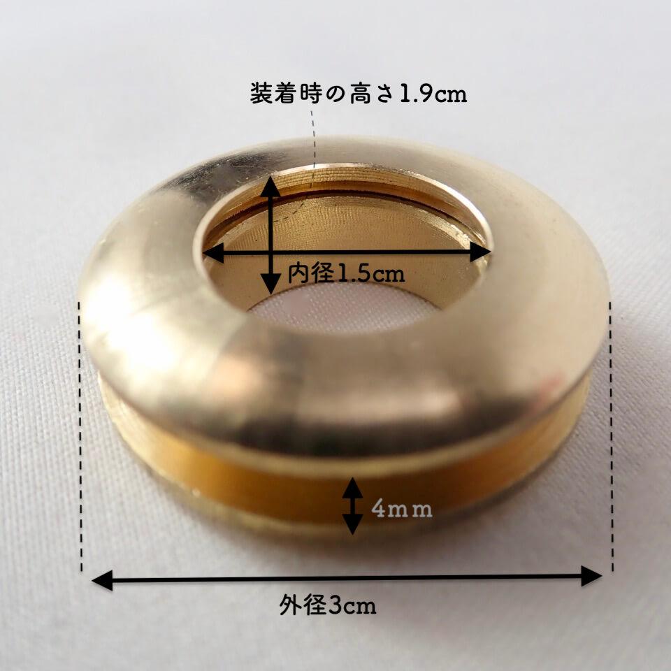 【送料無料】◆純銅製ネジハトメ(12個セット) Cottonraffia