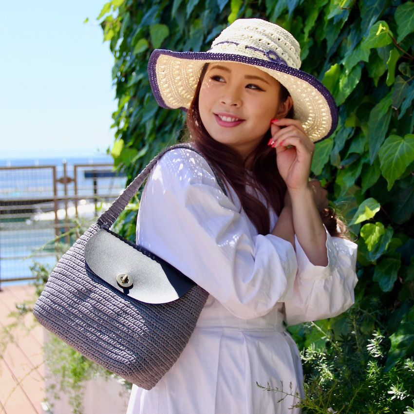 すかし編み女優帽 キット 〈ラフィア風糸で編むおしゃれなレディースハット〉