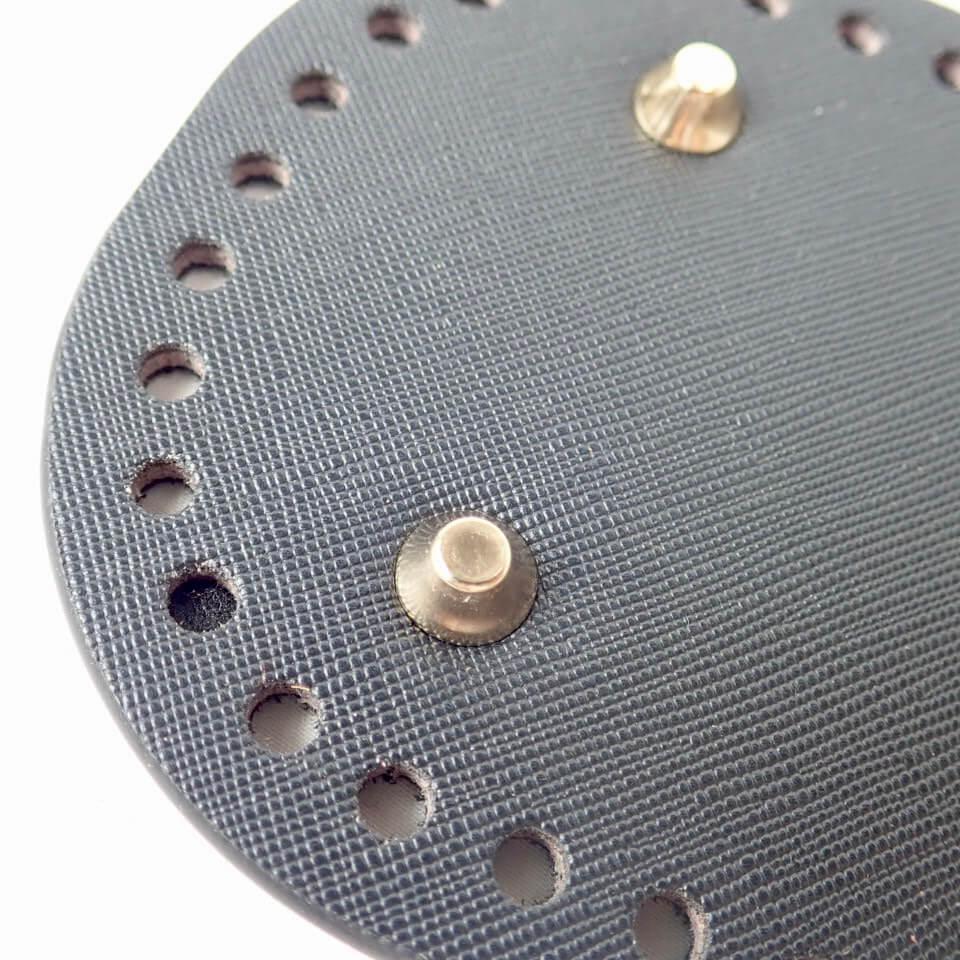 【送料無料】リベット付き底板 楕円型小(22cm×10cm)ブラック