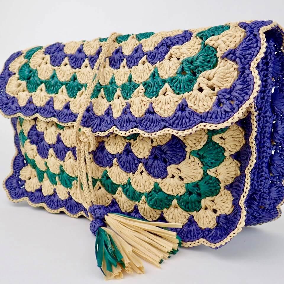 【コットンラフィア】200 ネイビー <編み物 かぎ針編み バッグ 帽子 麦わら帽子 におすすめのラフィア風手芸糸>