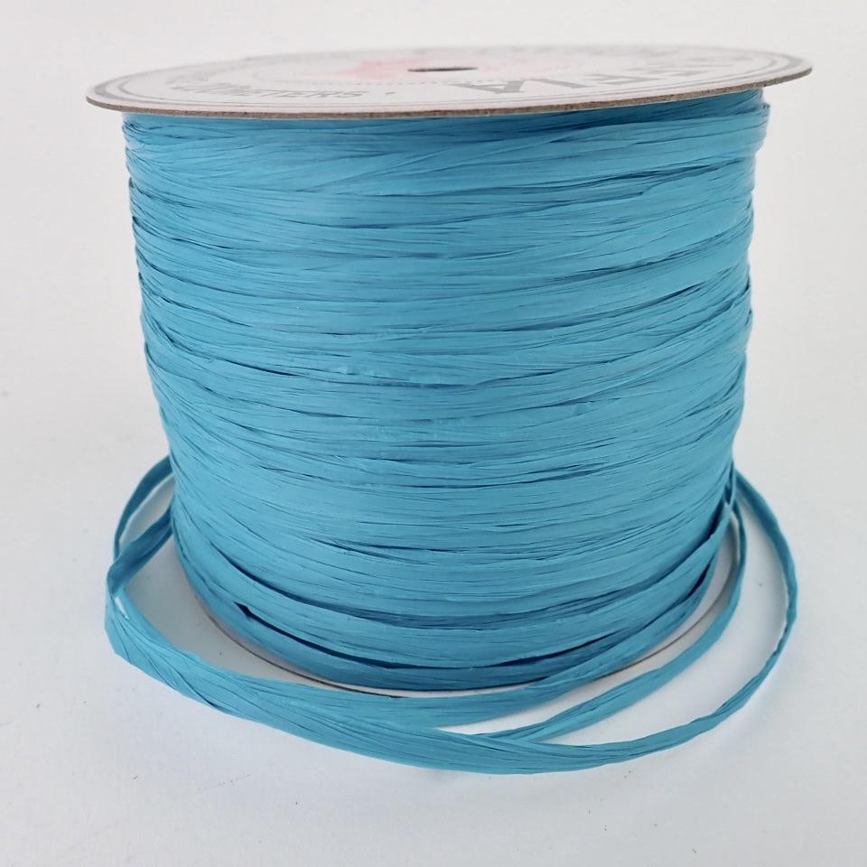 【コットンラフィア】220 ターコイズ <編み物 かぎ針編み バッグ 帽子 麦わら帽子 におすすめのラフィア風手芸糸>