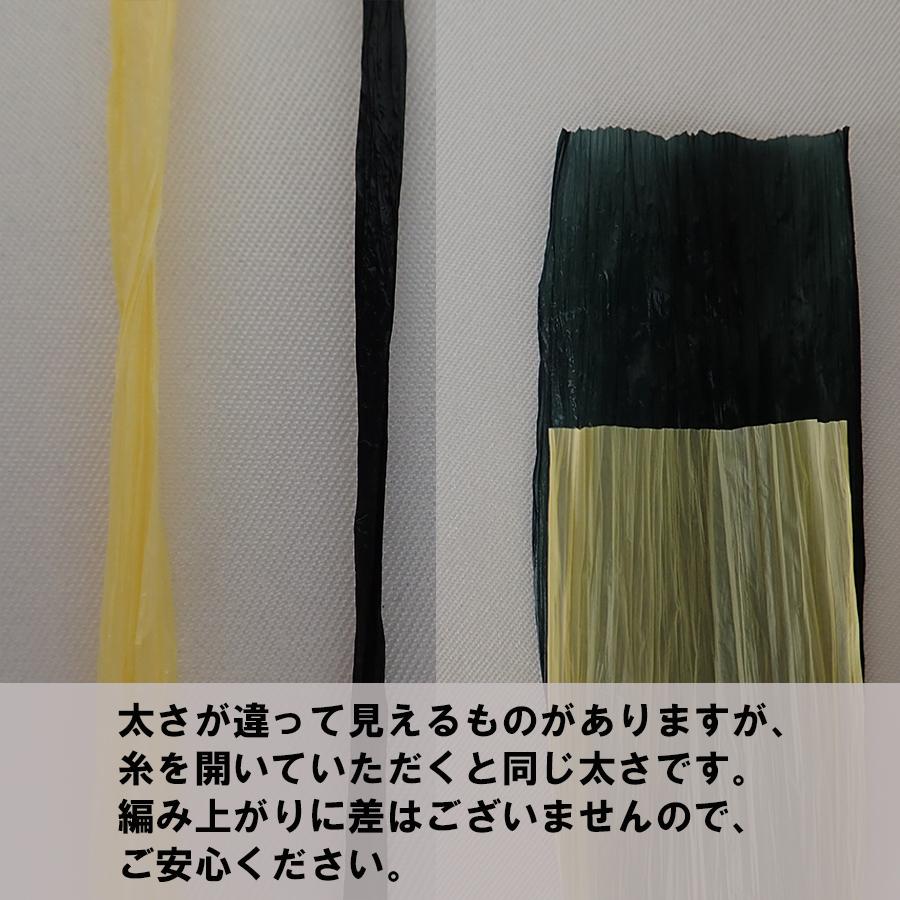 〈キット〉「モザイククロッシェ巾着バッグ」キット(ディープシー×ホワイト) Designed by Ami-Chiku labo