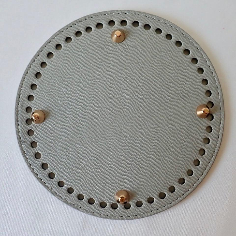【送料無料】リベット付き底板 丸型(直径15cm、穴数48個)ミスト