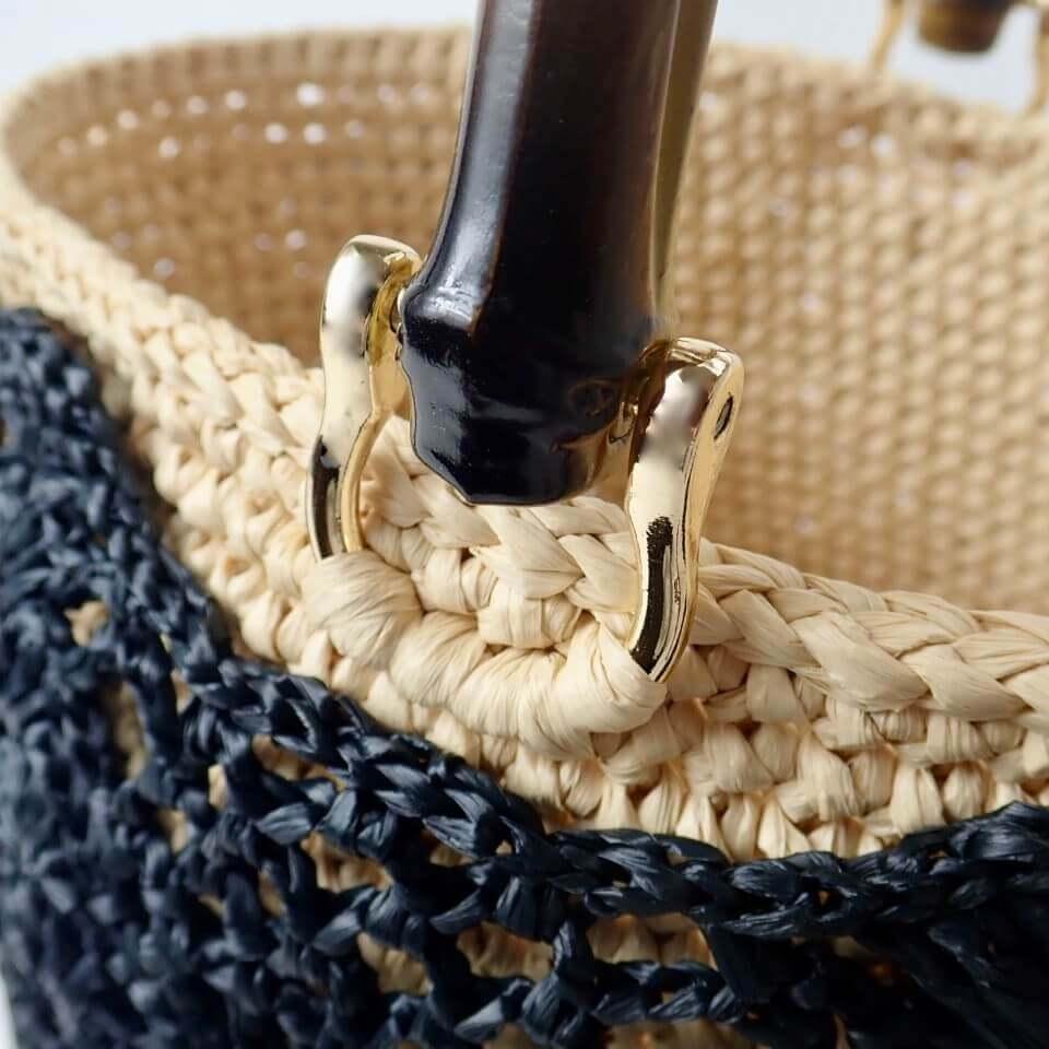 〈キット〉コットンラフィア パイナップルバスケット キット Designed by hatschi