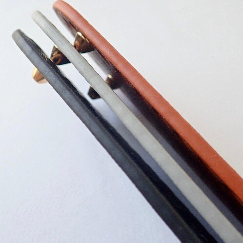 【送料無料】リベット付き底板 楕円型大(27cm×7cm)キャメル