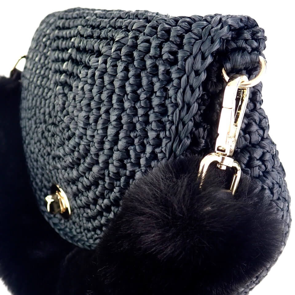 〈キット〉「meetangのまるころファーバッグ」キット カラー:ブラック Designed by meetang