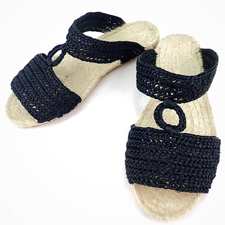 エスパドリーユサンダル キット <ラフィア糸で編む手作りのサンダル>