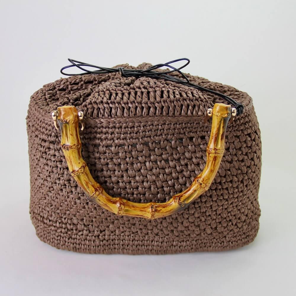 〈キット〉竹籠鞄(竹かごバッグ)キット(ブラウンファー) Designed by the723garment