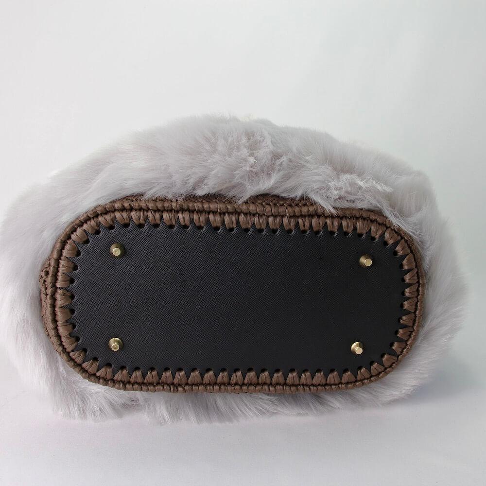 〈キット〉竹籠鞄(竹かごバッグ)キット(ライトグレーファー) Designed by the723garment