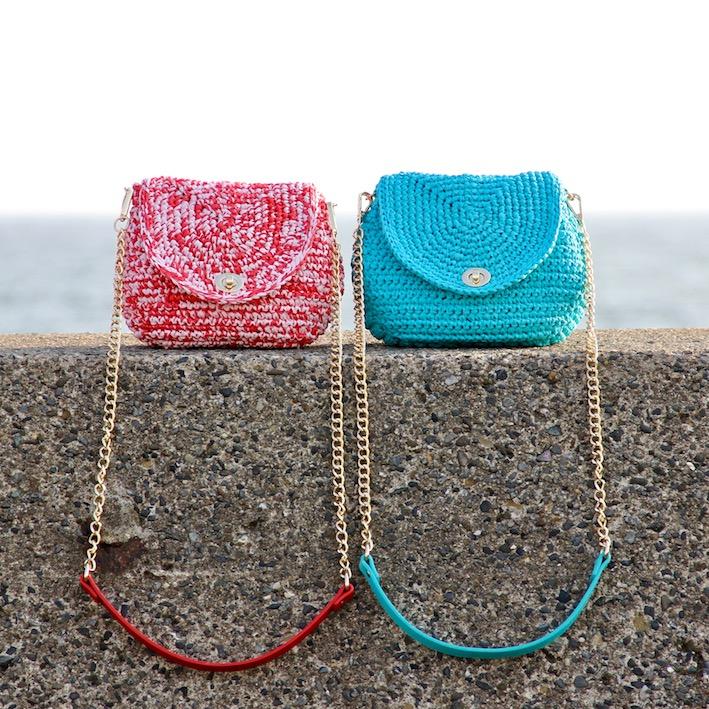 〈キット〉「meetangのまるころバッグ」キット カラー:レッド×ピンク Designed by meetang