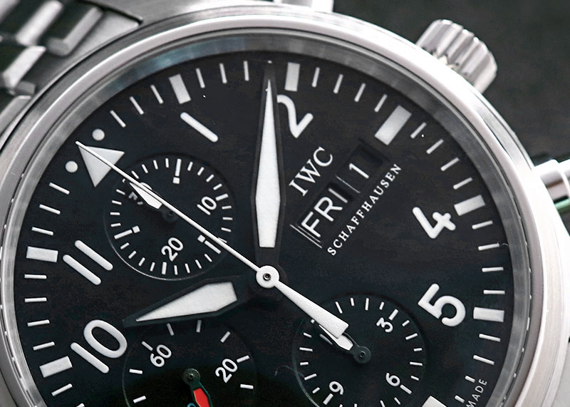 【中古】IWC IW371704 パイロットウォッチ クロノグラフ SS 黒文字盤 自動巻き ブレスレット