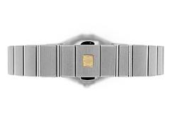 オメガ 123.10.24.60.51.001 レディース コンステレーション ブラッシュ SS 黒文字盤/12Pダイヤモンド クォーツ ブレスレット