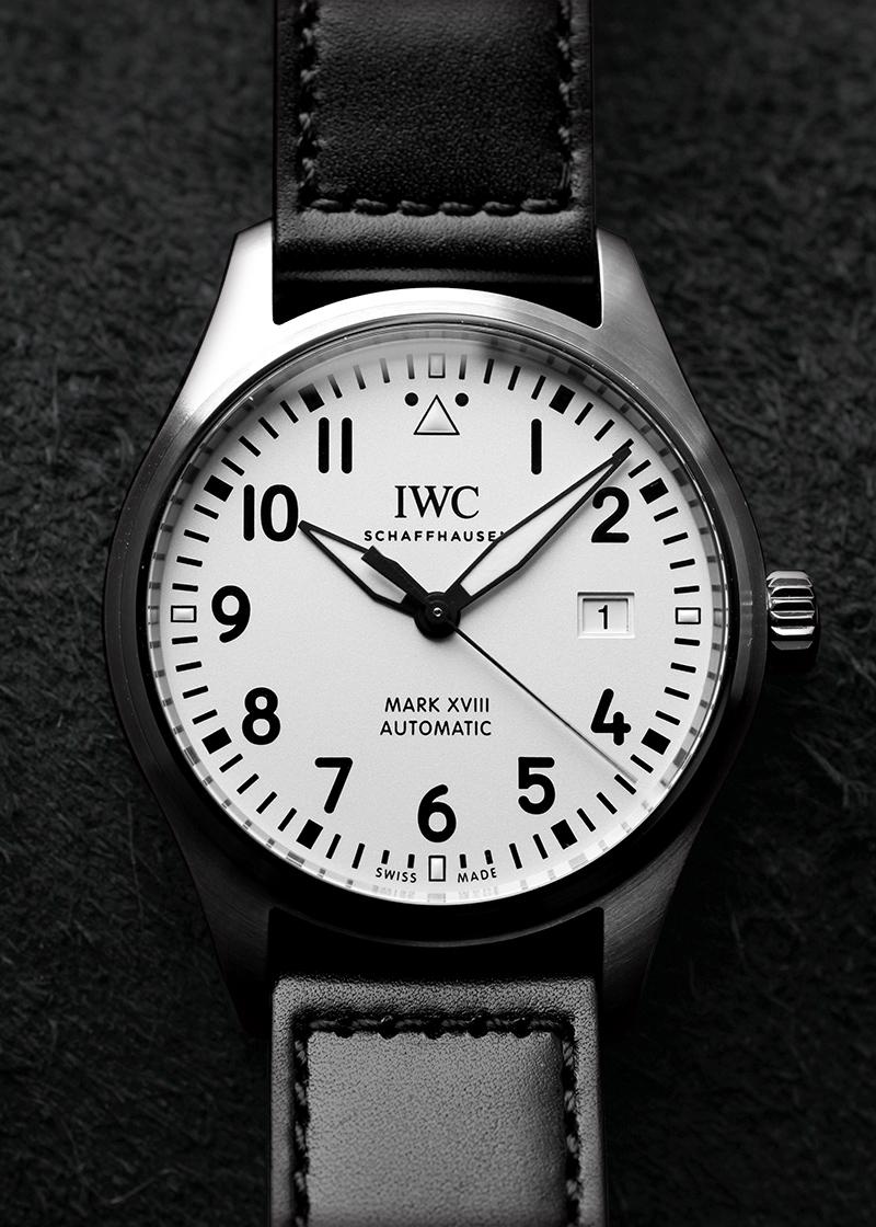 IWC IW327012(IW327002) パイロットウォッチ マークXVIII SS 白文字盤 自動巻き レザー