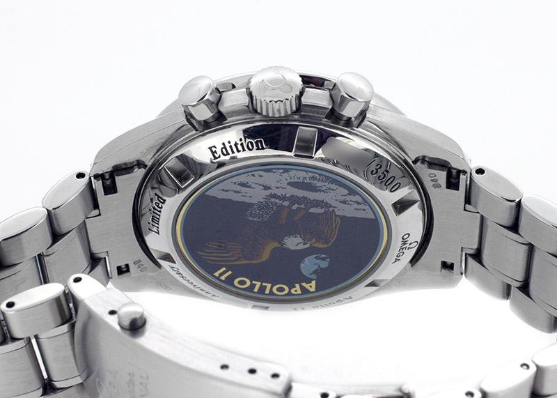 【中古】オメガ 3569.31 スピードマスター プロフェッショナル アポロ11号 35周年記念 3500本限定 SS シルバー/ブラック ブレスレット