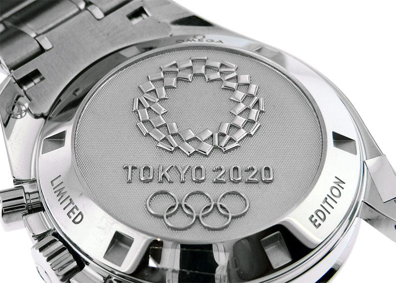 【未使用品】オメガ 522.30.42.30.03.001 スピードマスター 東京2020 リミテッドエディション 2020本限定 SS ブルー文字盤 手巻き ブレスレット
