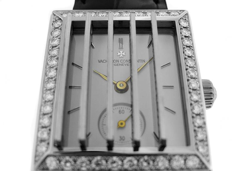 【中古】ヴァシュロンコンスタンタン 91503/000G-7 ジャルージ ケースダイヤモンド WG 白文字盤 手巻き レザー