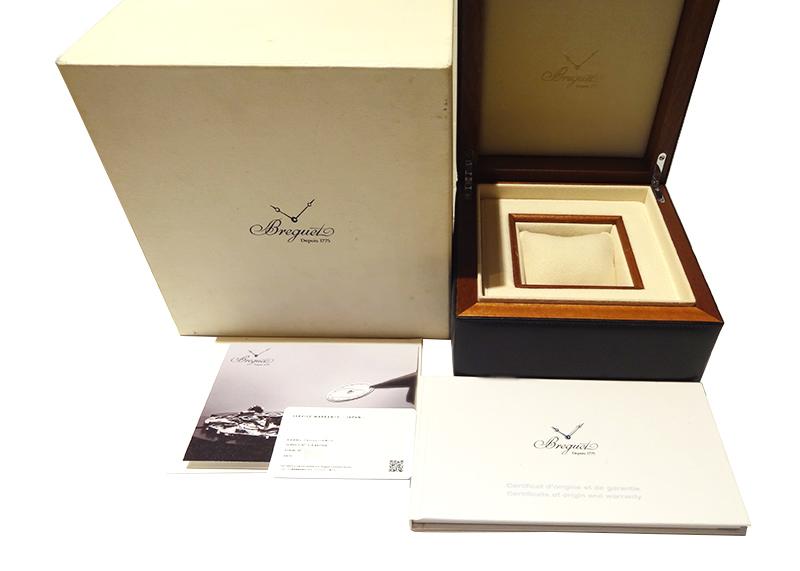 【中古】ブレゲ 5817ST/12/5V8 マリーン� ラージデイト SS シルバー文字盤 自動巻き ラバー