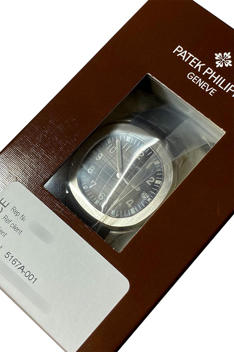 【中古】パテックフィリップ 5167A-001 アクアノート エクストララージ SS 黒文字盤 自動巻き ラバー