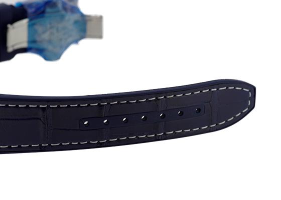 フランクミュラー V45SCDT YACHTING ヴァンガード デイト ヨッティング SS ブルー文字盤 自動巻き アリゲーター/ラバー