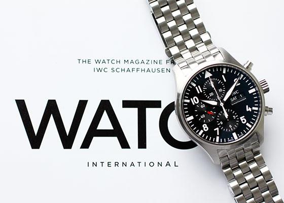 IWC IW377710 パイロット ウォッチ クロノグラフ マークXVIII SS 黒文字盤 自動巻き ブレスレット