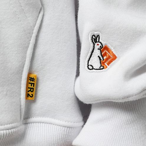 FRC870 #FR2×#コンパス メグメグ Hoodie 0001 ホワイト