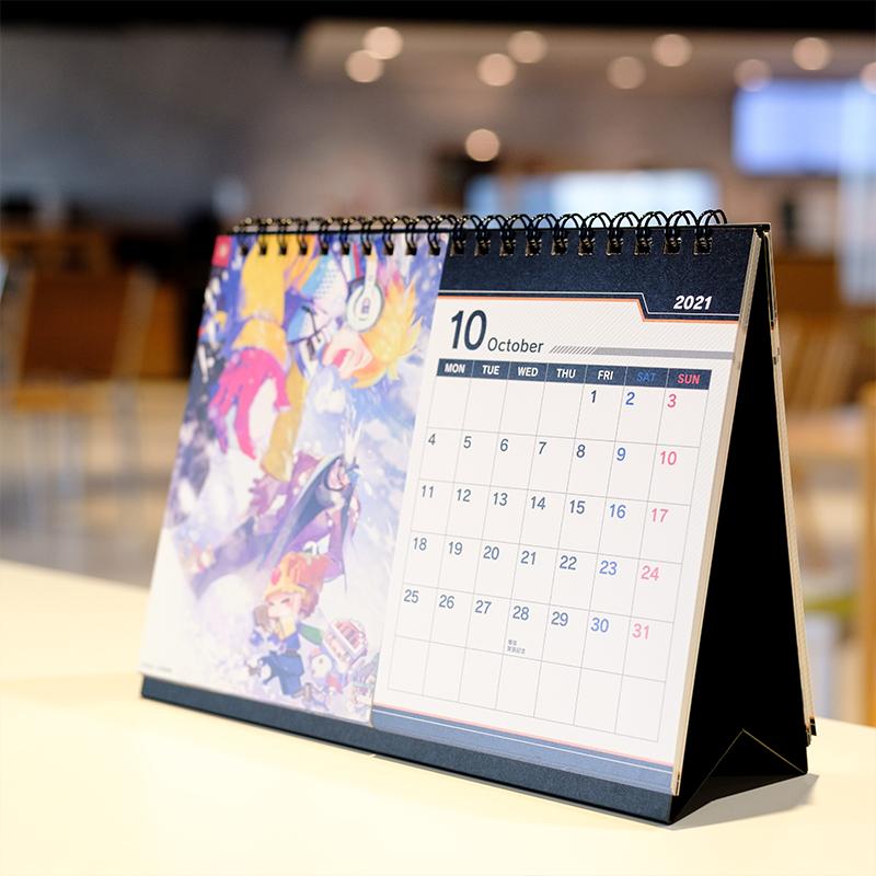 #コンパス 卓上アートカレンダー 21年5月-22年12月
