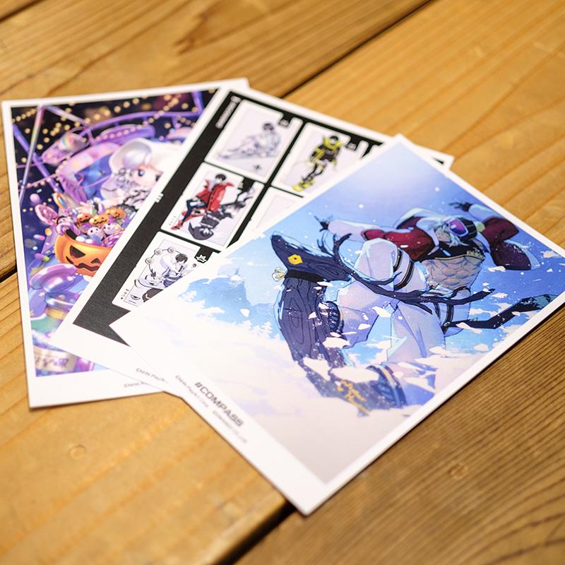 アートポストカードセット(3枚1組)(全12種)