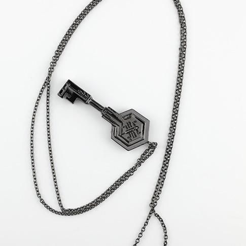 ポータルキー型 ネックレス(ブラック)