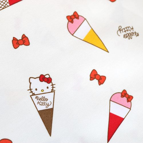 生地 プルーン×キティ オックスプリント キティアイスクリーム柄