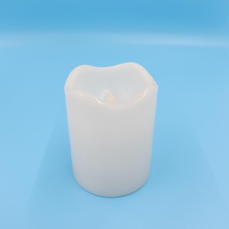 ロウでできたキャンドル型LEDライト S ホワイト