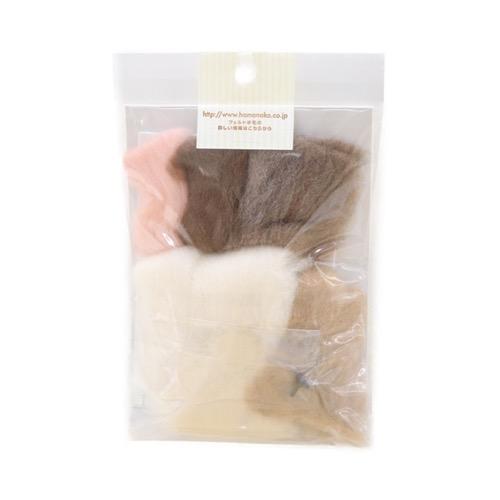 ハマナカ ふわふわ羊毛でつくるフェルト猫 スコティッシュフォールド