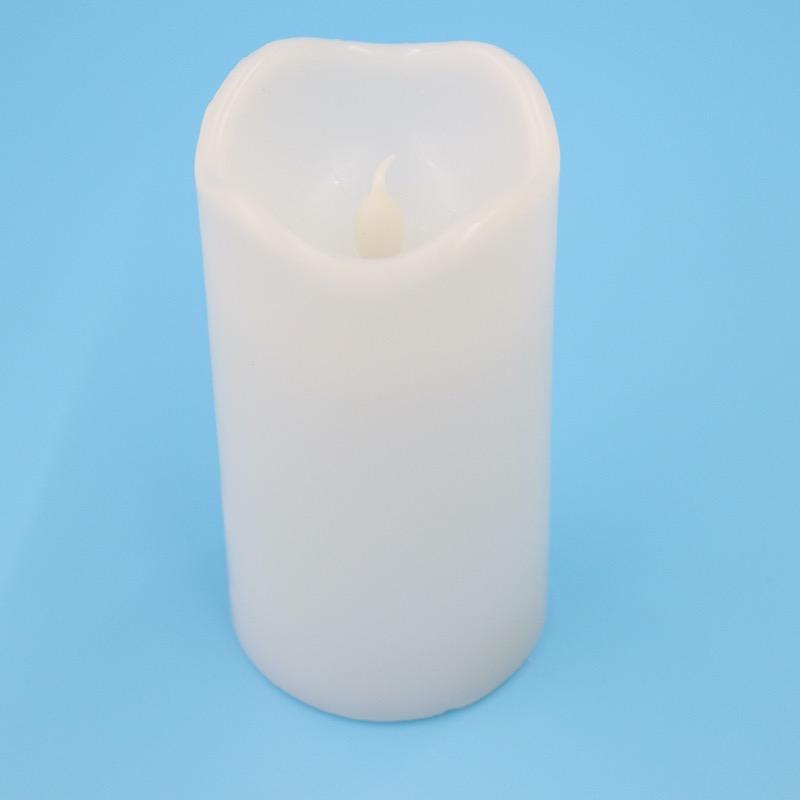 ロウでできたキャンドル型LEDライト M ホワイト