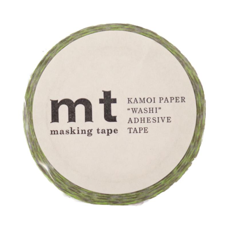 マスキングテープ ストライプチェック・グリーン 幅15mm×10m巻