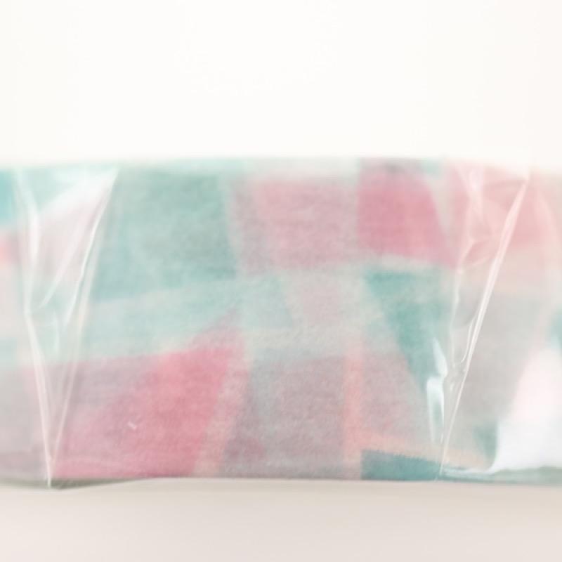 プチジョア マスキングテープ ステンドグラス グリーン×ピンク 15mm×18m
